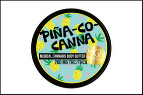high gorgeous piña-co-canna body butter - And to think, 6 months ago I didn't know the difference between Indica and Sativa, and now I'm slathering my body with weed every morning. (Read more)