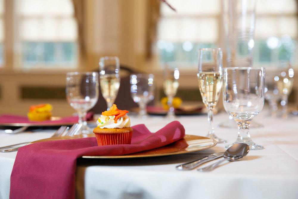 Table setting weddings at the Big Tree Inn