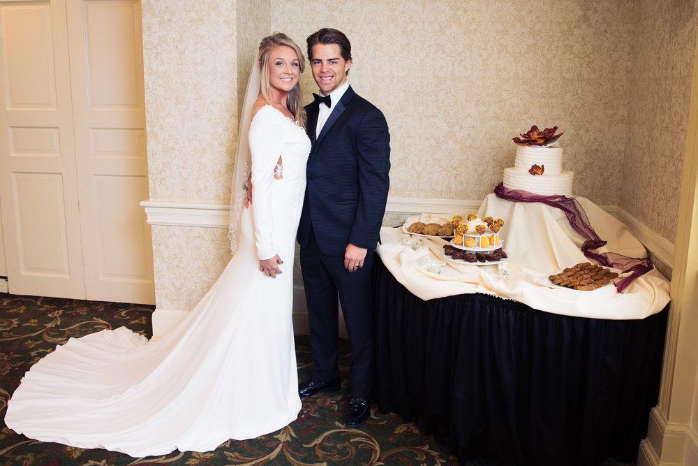 Wedding Couple with Cake