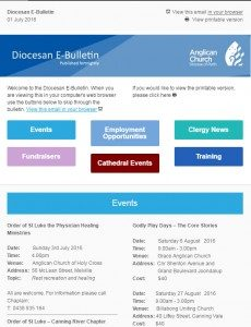 Click here for recent editions of the Diocesan Bulletin  (new window)