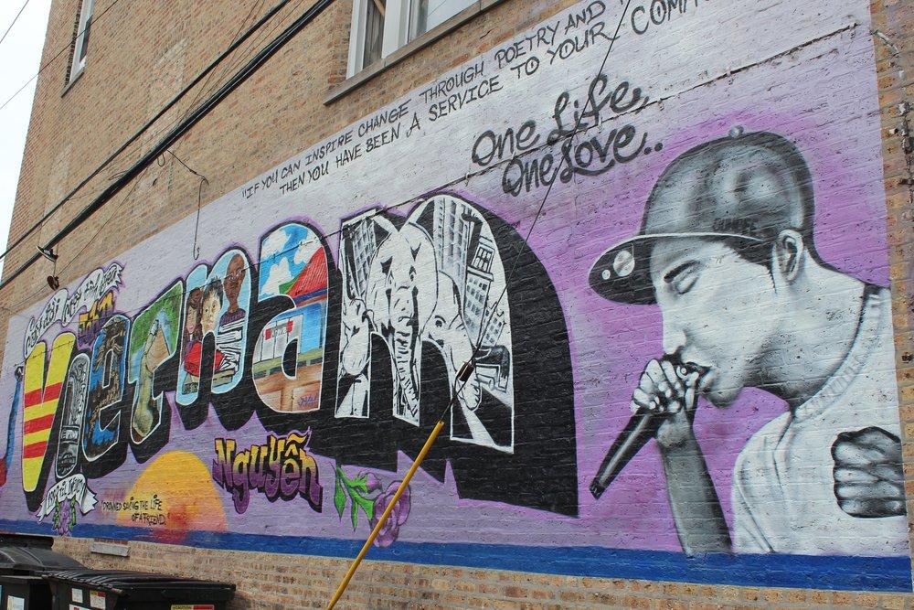 John Vietnam mural on Chicago's North Side