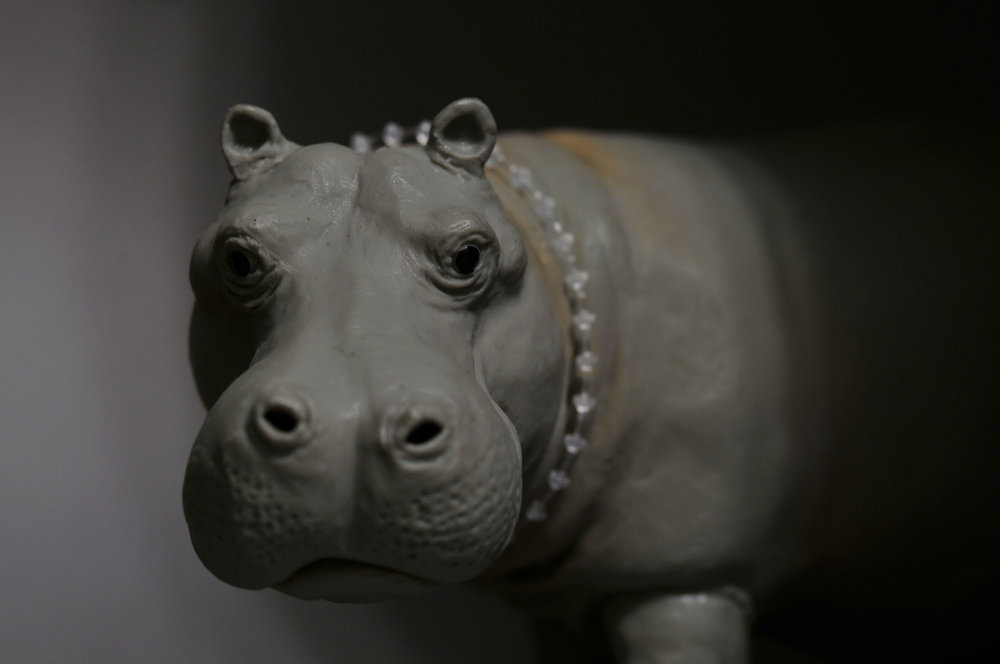 Hippo with Pearls