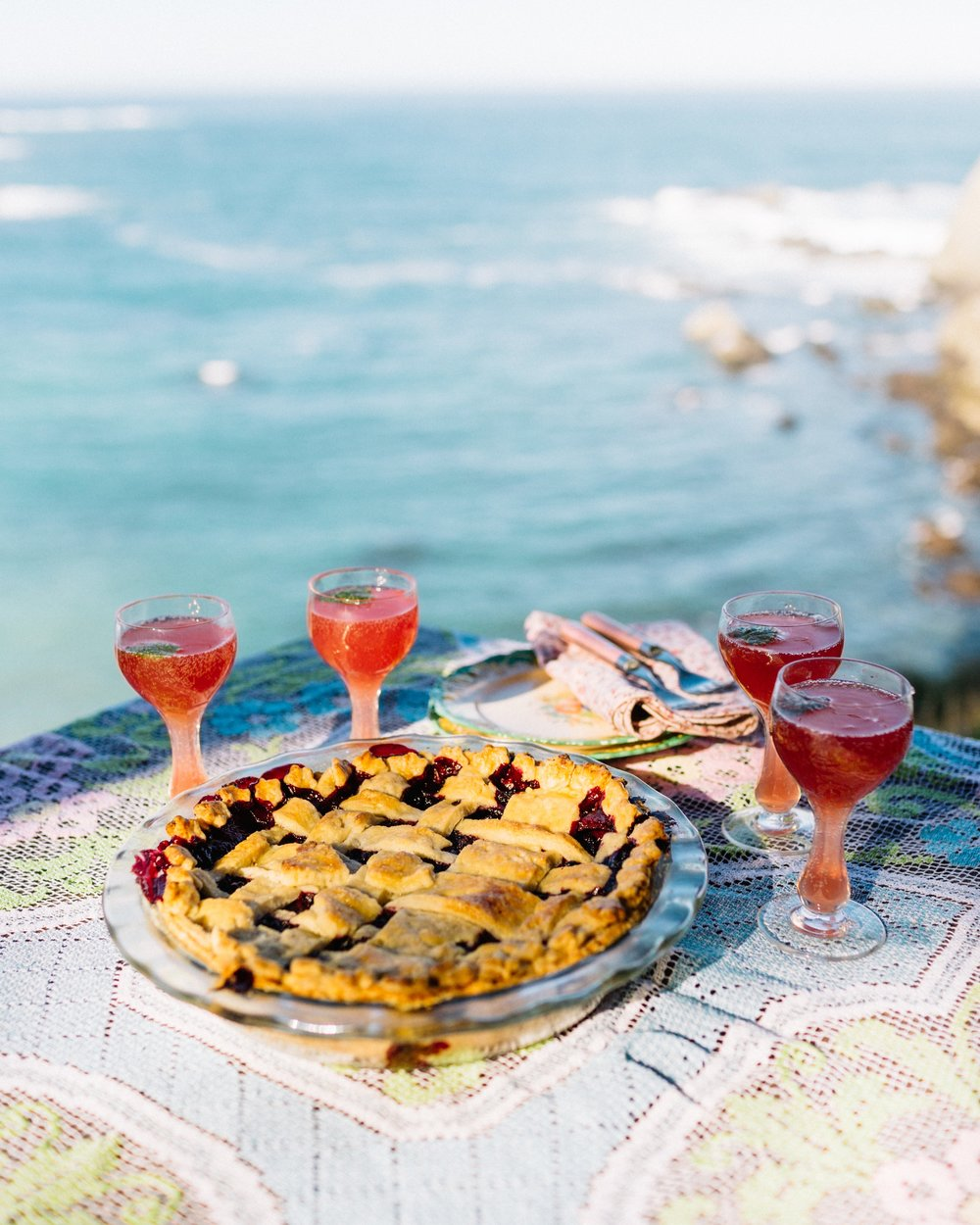 Pie and Sea with cocktails.jpg