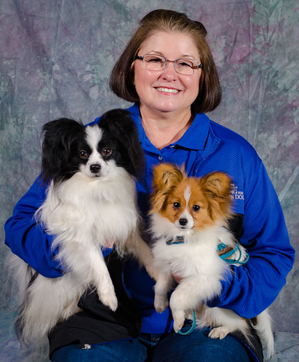 Helen Dohrmann KPA CTP, CPDT-KA certified professional dog trainer and karen pryor academy training partner in Redmond, Bellevue, Sammamish, Kirkland, Medina and Issaquah, WA. Positive reinforcment dog trainer specialist in papillons, clicker training, conformation, obedience, rally, CGC, obedience, tricks, and therapy dog training.