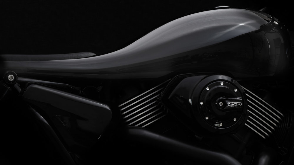 The Unibody  Usually, the fuel tank, cowl, seat and lights remain separate. But the Dark Side unifies them into one seamless piece. We call it the unibody. Inspired by aircraft, this piece alone takes 56 hours to craft by hand and gives the Dark Side scale and gravitas.