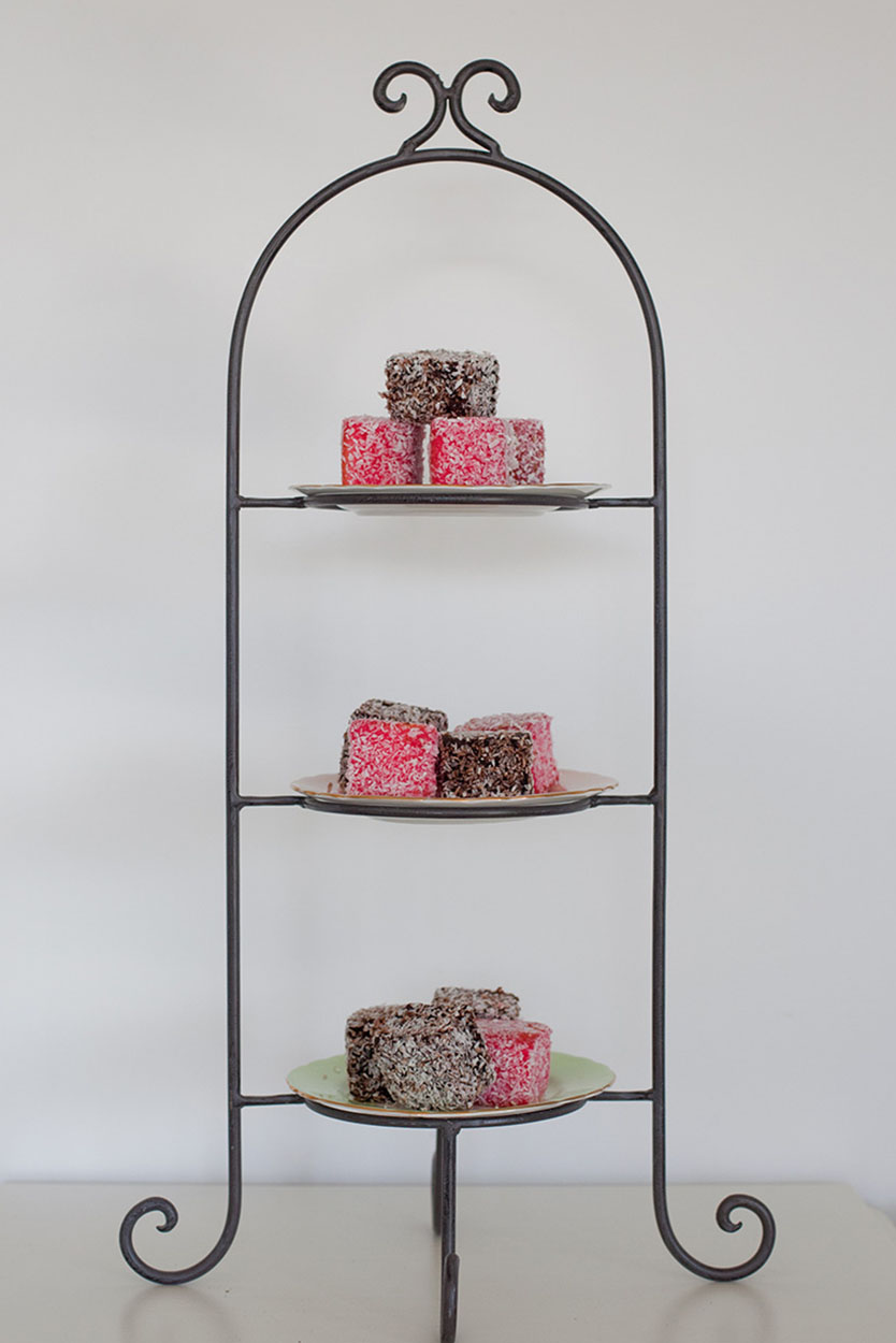 3 Tier Wrought Iron - Brown