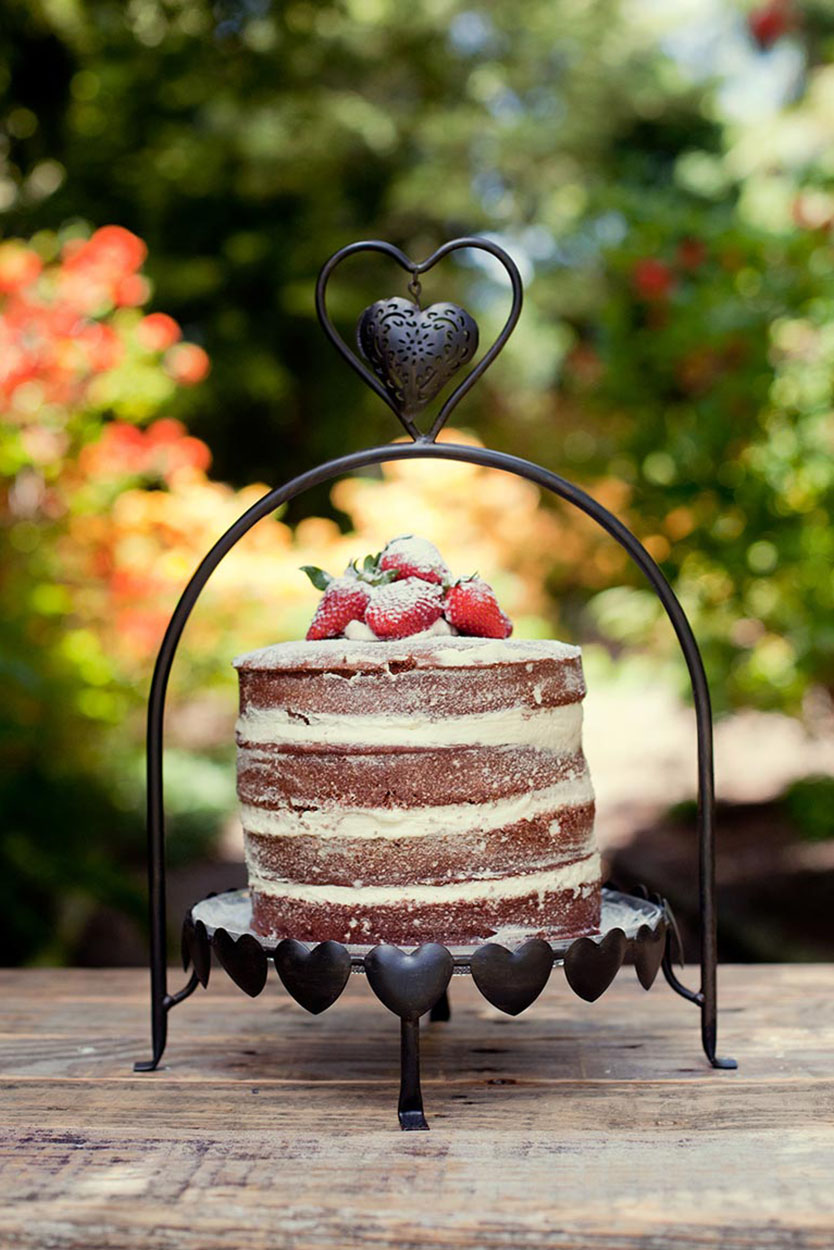 Wrought Iron Heart Stand