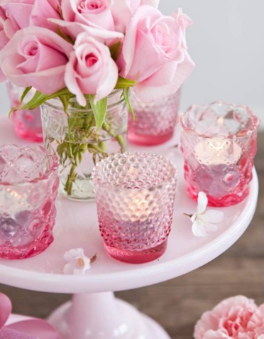 Pink Glass Tealight