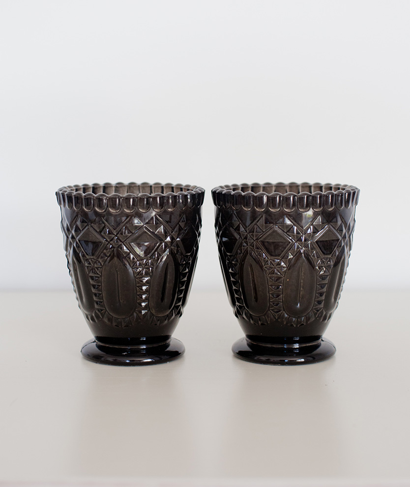 Black Glass Votive/Vase