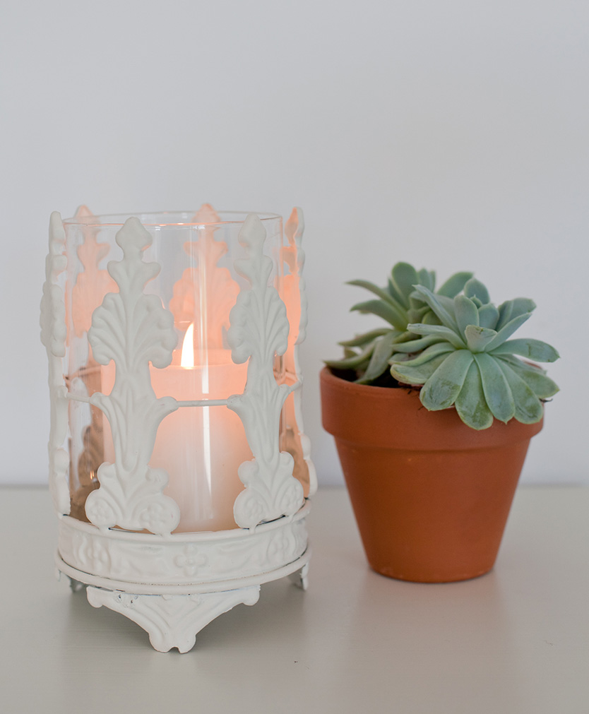 Ornate Hurricane Candle Holder