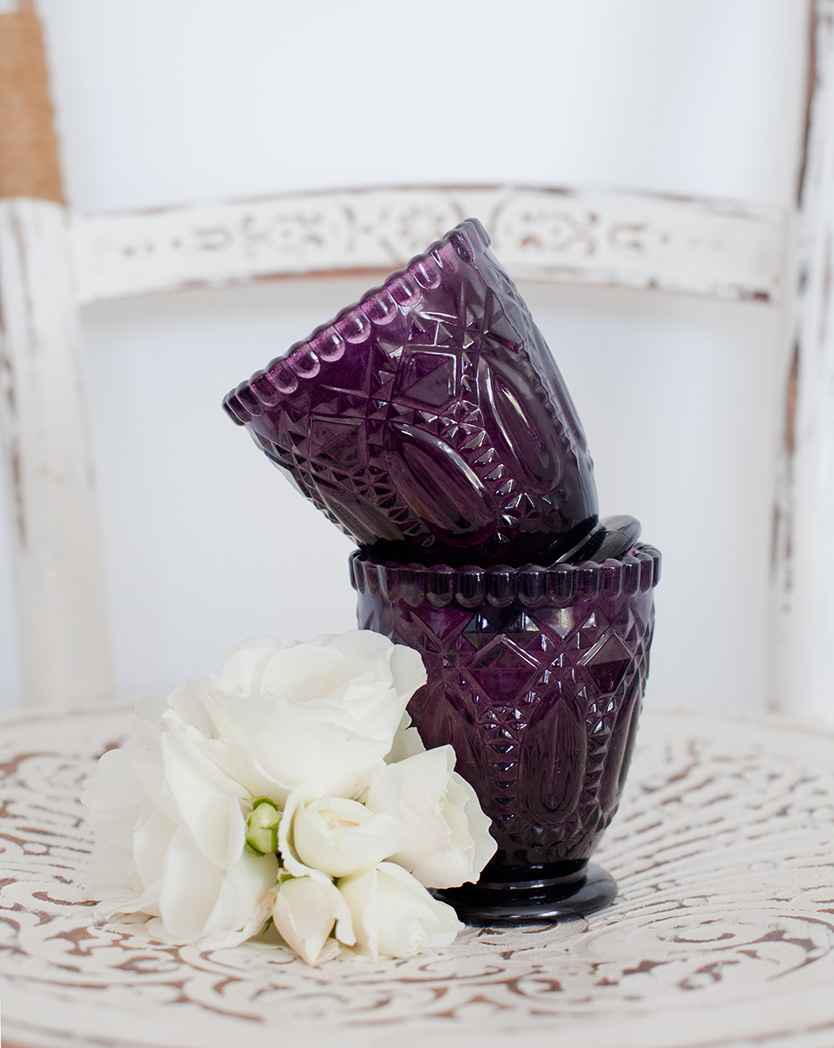 Purple Glass Votive/Vase