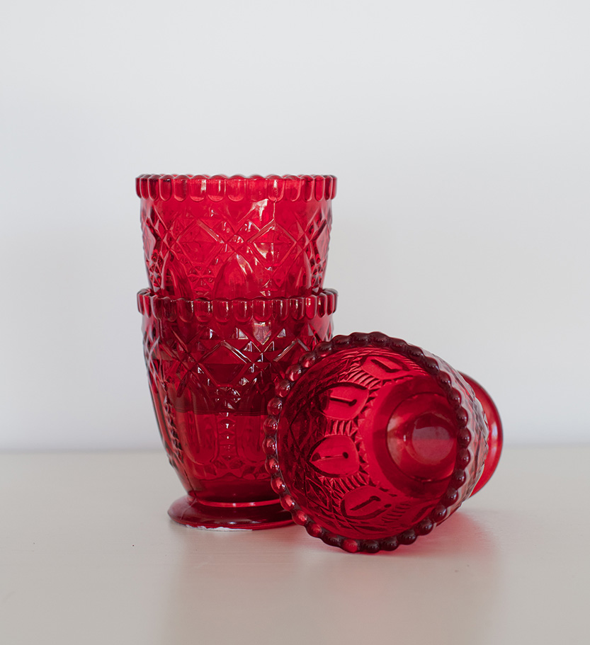 Red Glass Votive/Vase