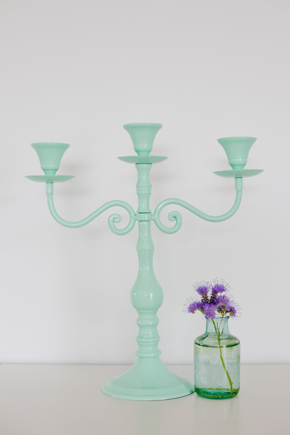 Mint Metal Candelabra