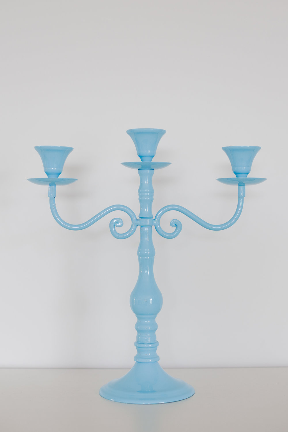 Blue Metal Candelabra