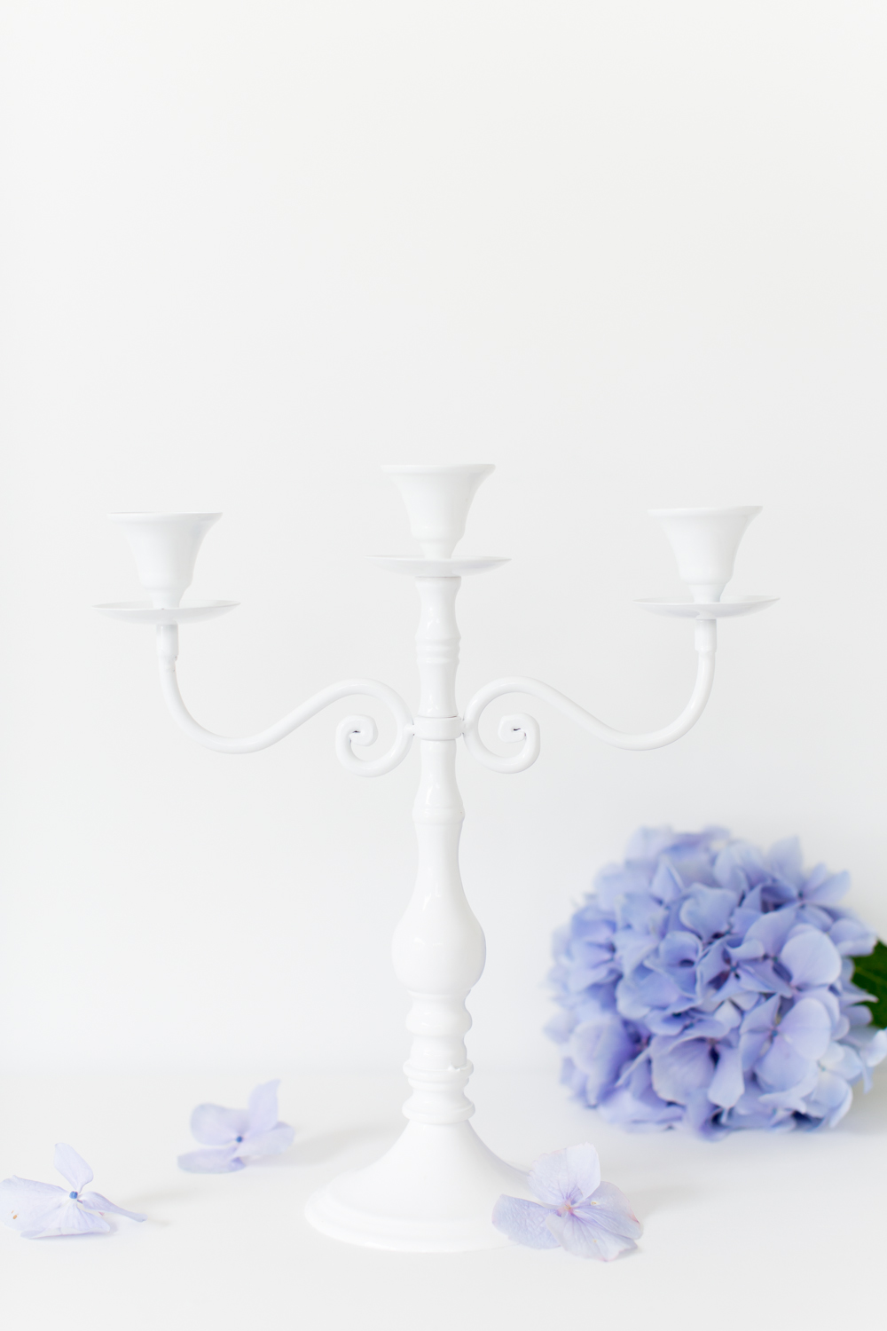 White Metal Candelabra