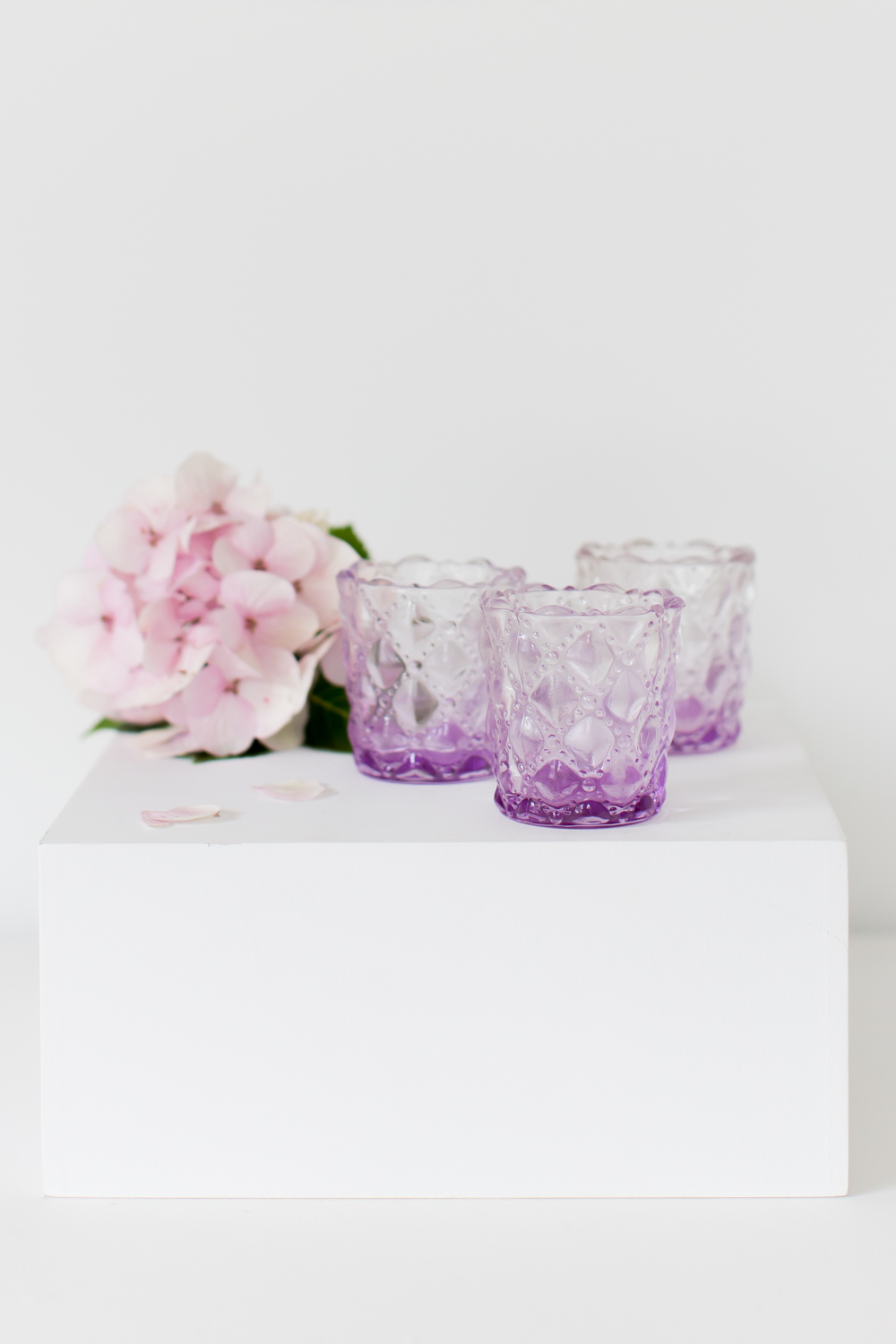 Lilac Glass Tealight