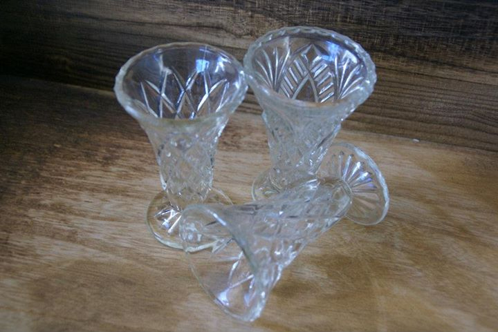 Cut Crystal Vase - Med