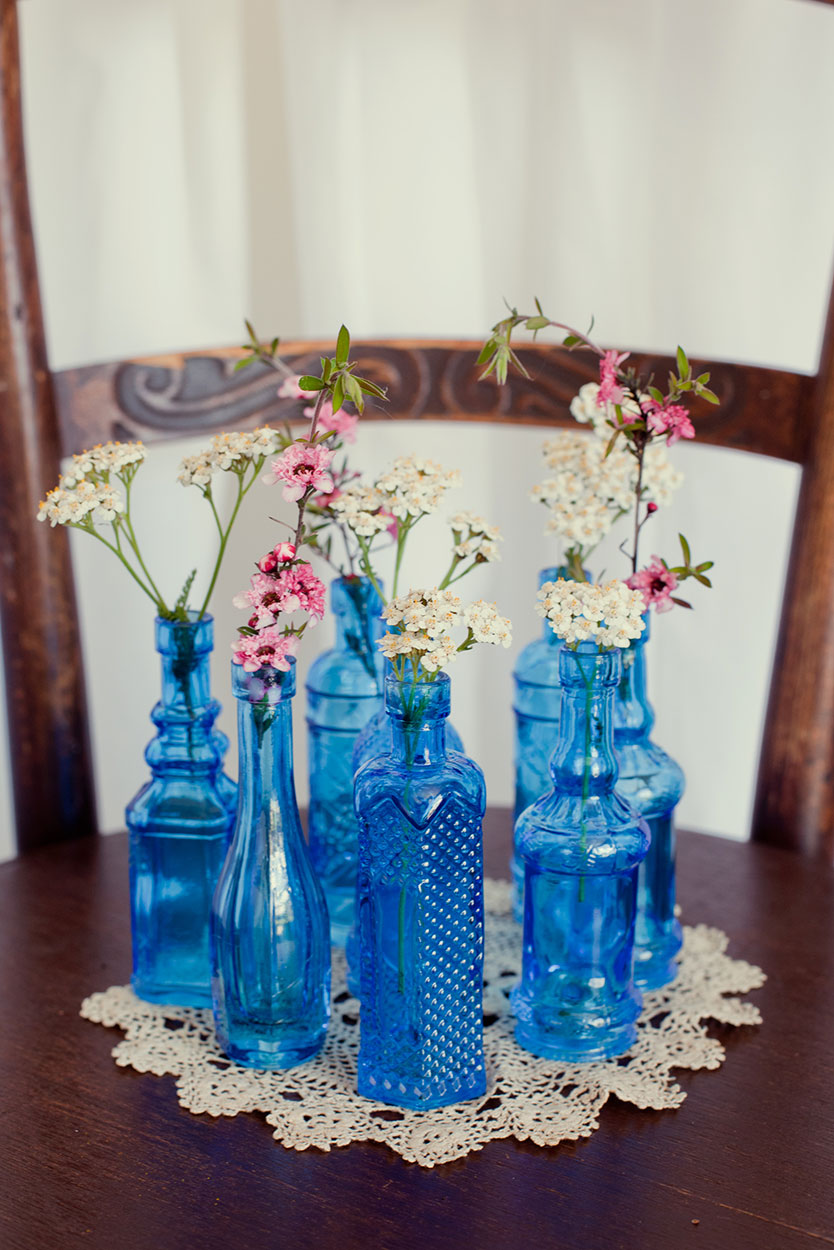Mini Blue Bottles