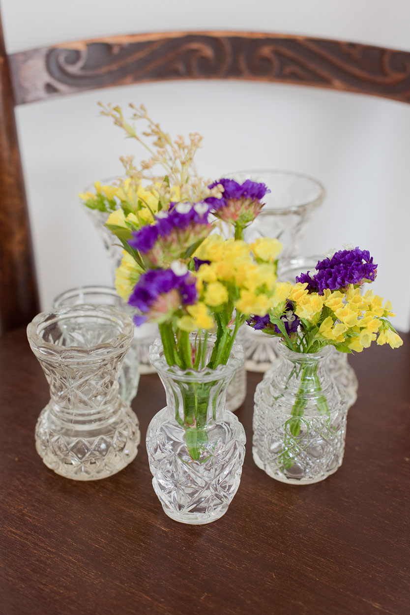 Cut Crystal Vase - Sml