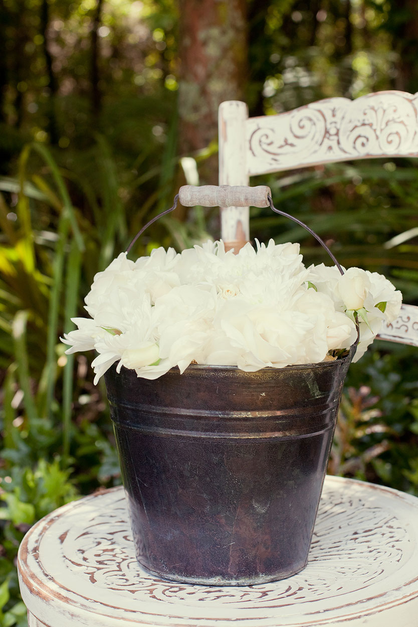 Antique Flower Bucket
