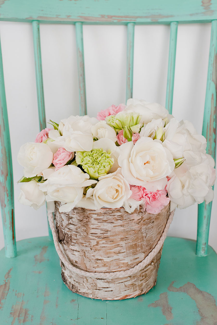 Birch Flower Girl Bucket