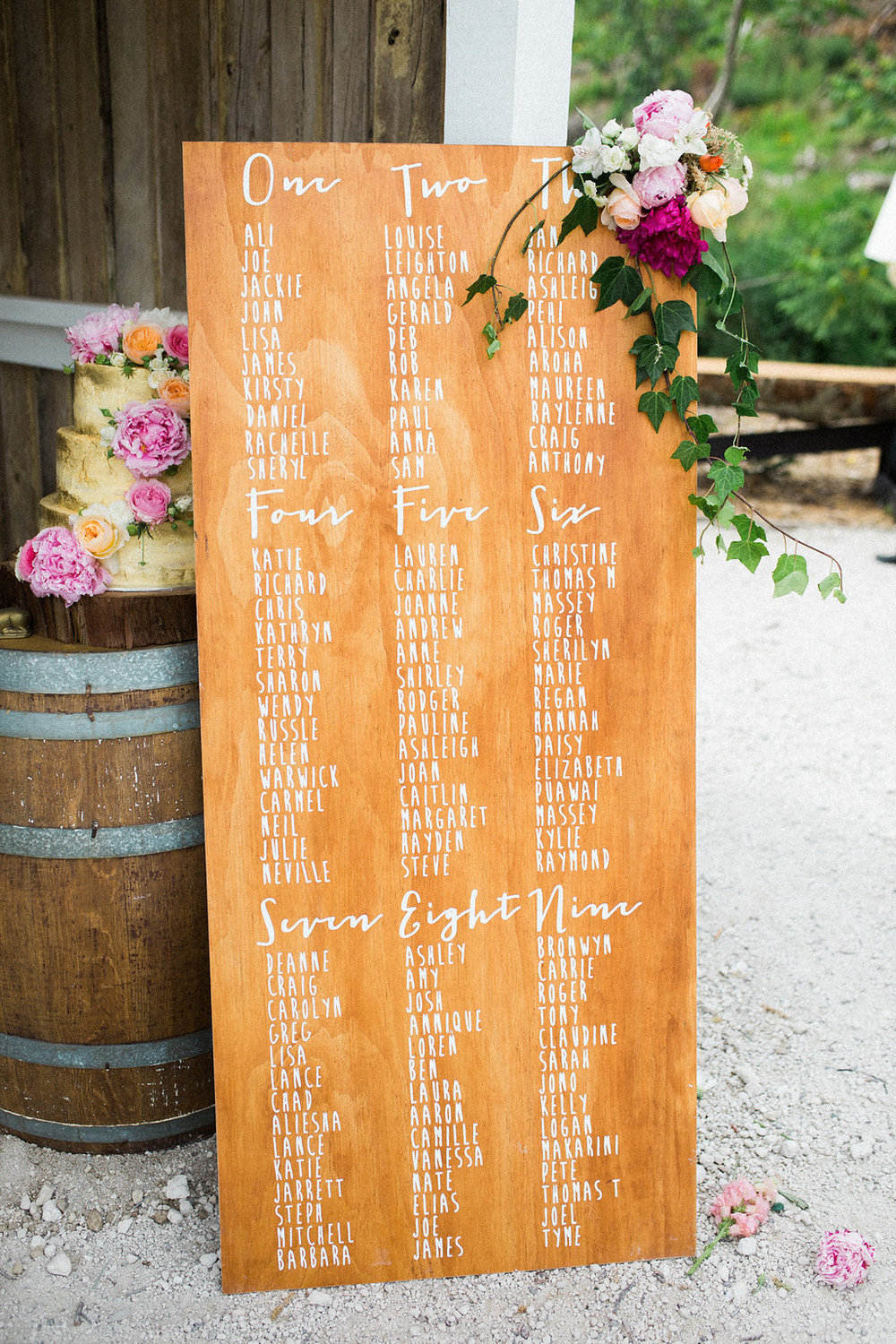 Custom Plywood Seating Plan