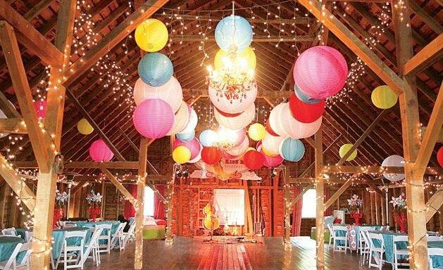 Coloured Paper Lanterns