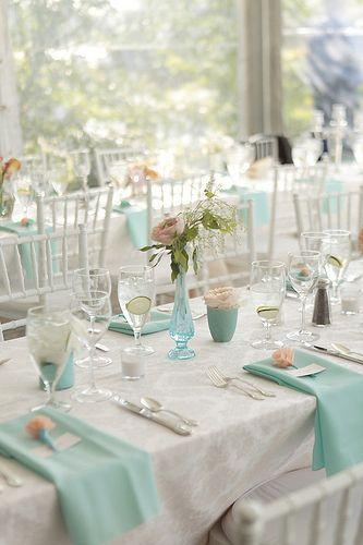Mint Linen Frayed Edge Napkin