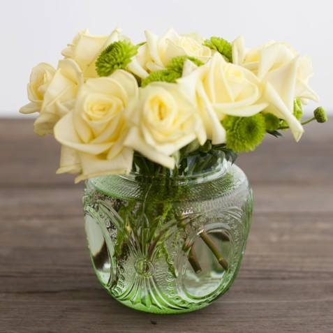 Green Flower Globe - Lrg
