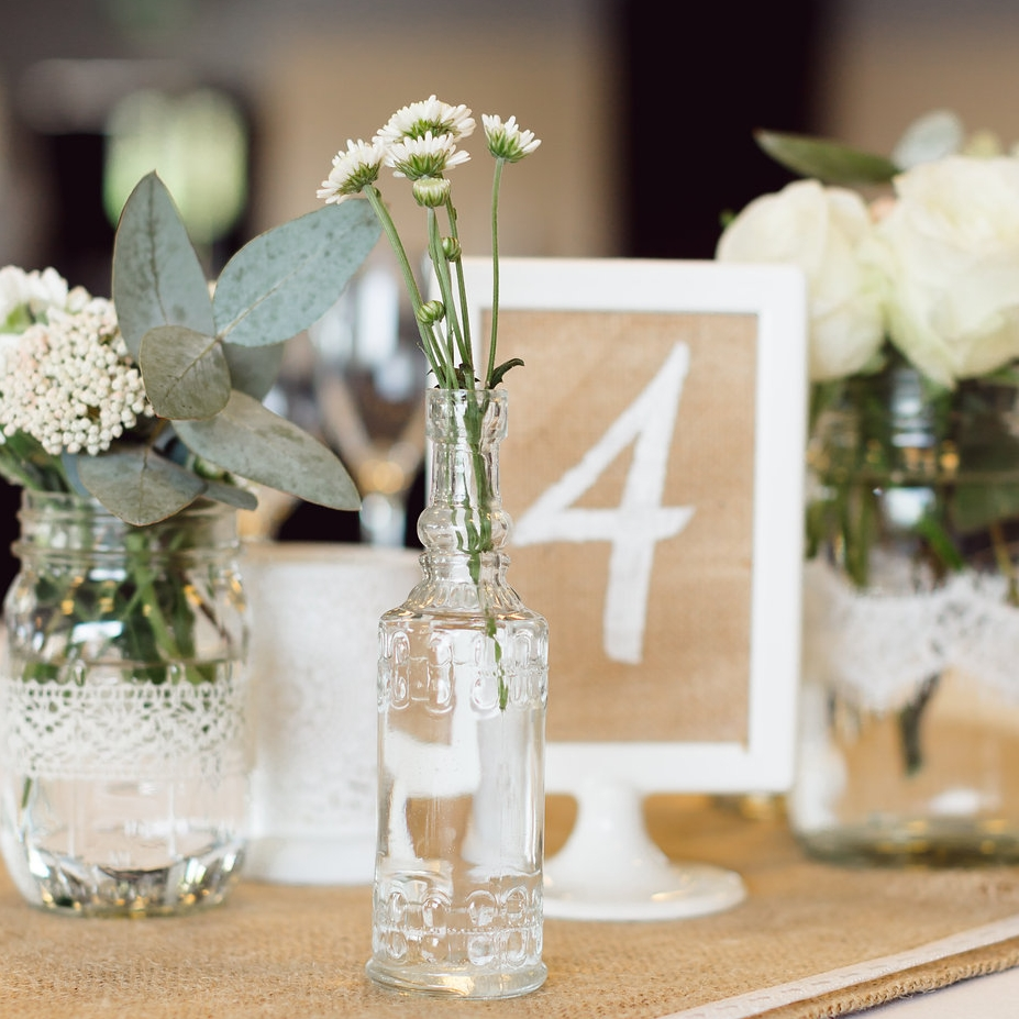 White Double Sided Frame - Table Number