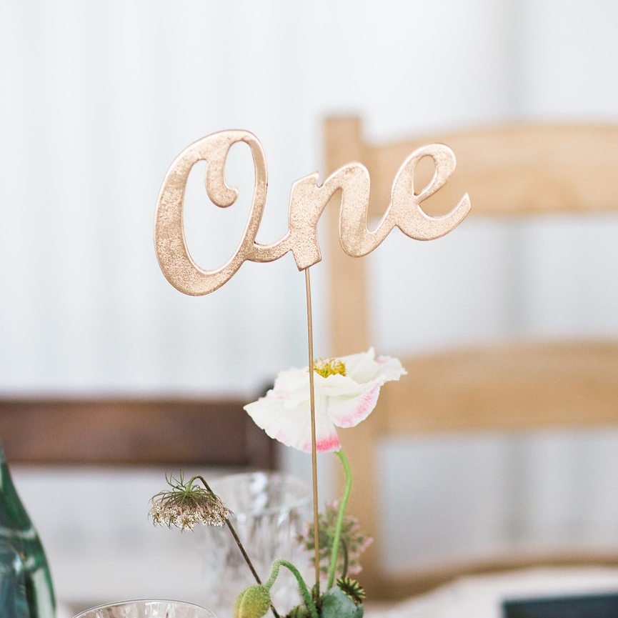 Tall Gold Table Numbers