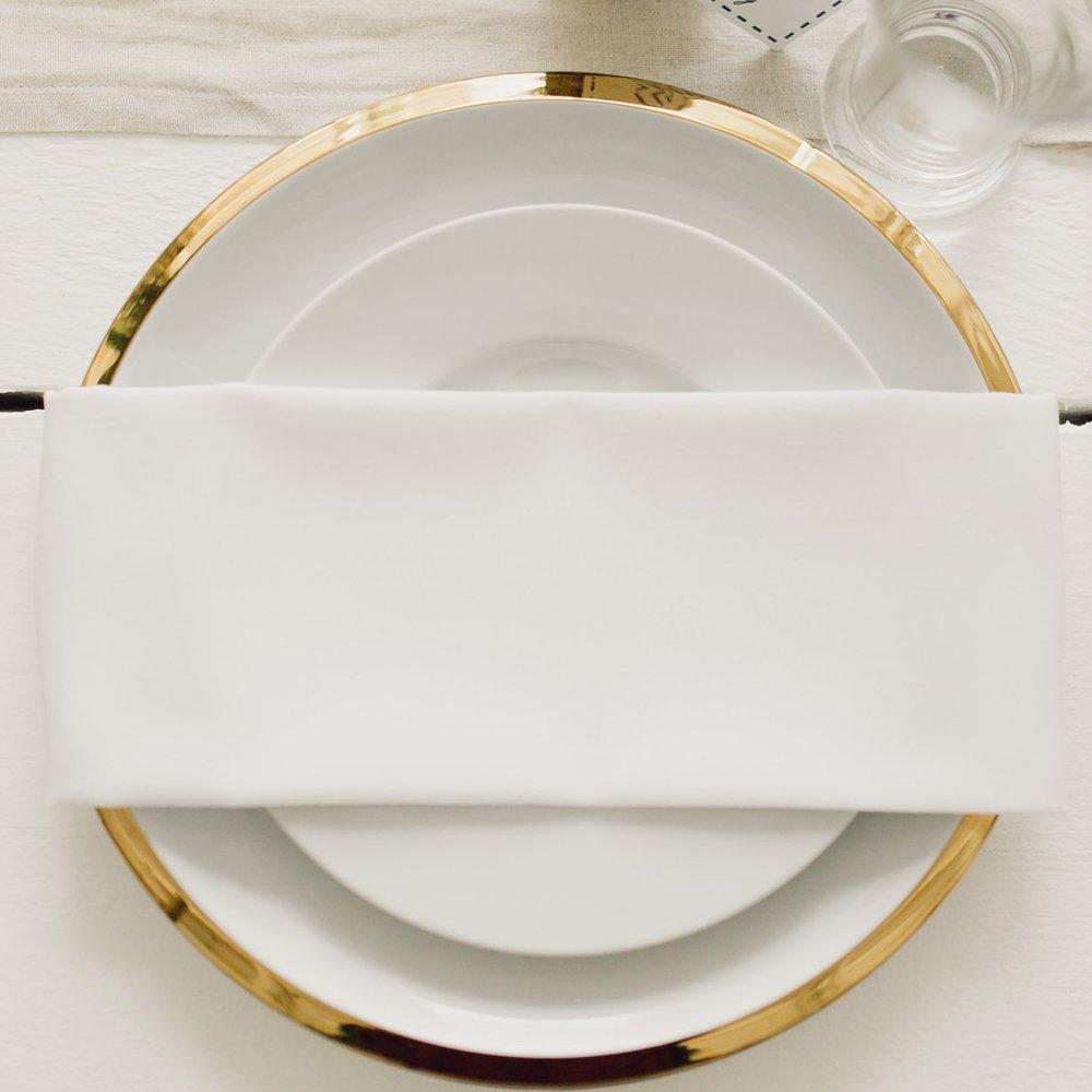 24K Gold Edge Dinner Plate