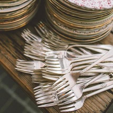Vintage Silver Cake Forks
