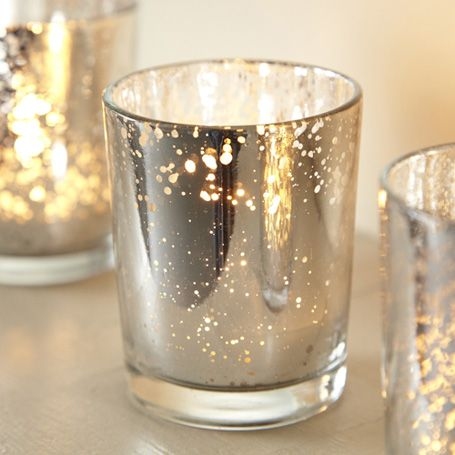 Mercury Glass Silver Tealight