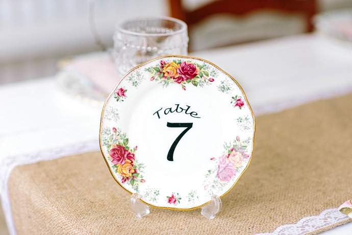 Vintage Plate Table Number