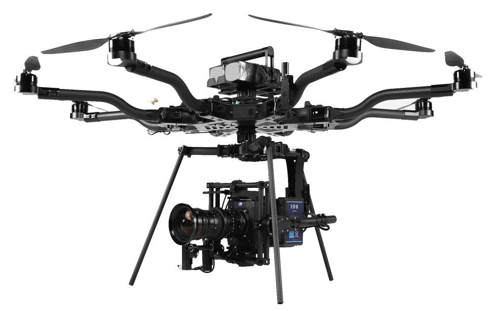 Freefly Alta 6/8 - 20lb pay load! (RED, Arri, Zoom Lenses, Etc.)10-15 flight timeTop speed 30mphFly with matte boxes, filters, lens control, etc.*Includes: FAA Certified Pilot, Gimbal Operator,Teradek Bolt 1000, Movi Pro & 1M liability insurance