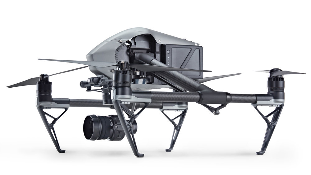 Inspire 2 w/zenmuse x5s raw camera - 12 stops of dynamic range5.2k @ 30fps - 4k @ 60fpsTop speed 67mphUp to 27min flight time*Includes: FAA Certified Pilot, Gimbal Operator & 1M liability insurance.