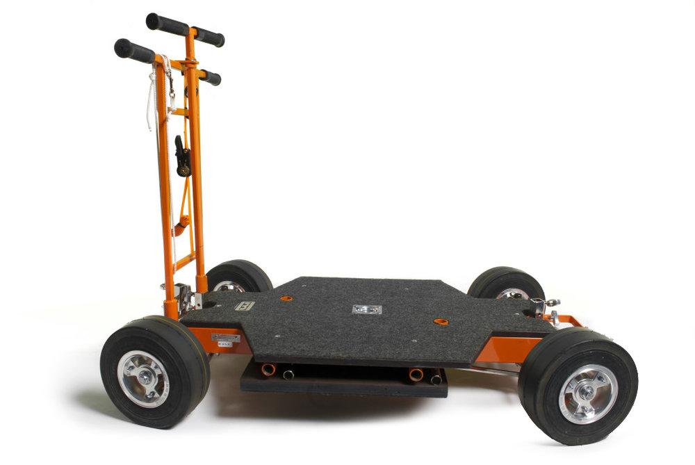 MATT.Doorway dolly - $100/dayAll-wheel steering will navigate 90 degree corners1100lb load capacity51