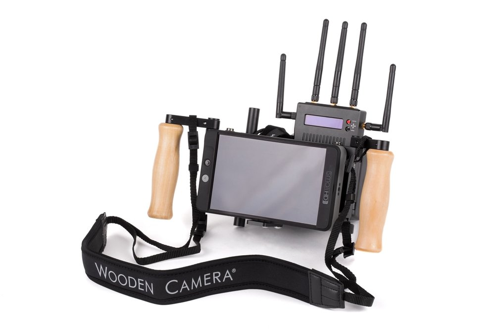 Director monitor cage - $350/dayWooden Camera V2 Director's CageSmall HD 702 Bright Teradek Bolt 1000V-Mount Battery Plate - Power SupplyNeck Strap