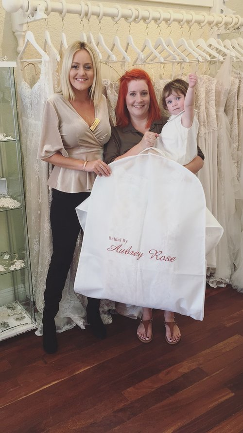 Kerryn Jade Hickmott reviewed Bridal by Aubrey Rose – 5 star. - So glad I booked an appt here!!! My dress is amazing and I can't wait to wear it on my wedding day. Rachel went above and beyond for me. I was so nervous and excited. The whole team was awesome. Fantastic customer service. 10/10