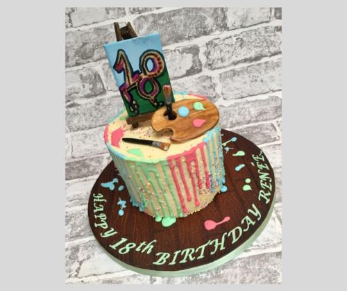 Artist Inspired Design 18th Birthday Cake
