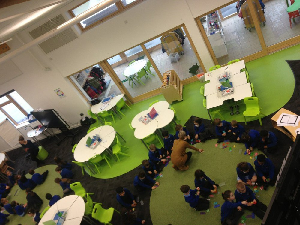 Firesides and Watering Holes in use at  Wallscourt Farm Academy , Bristol, UK; a school we co-designed and lead.