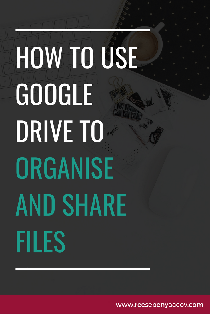 how to use google drive to organize and