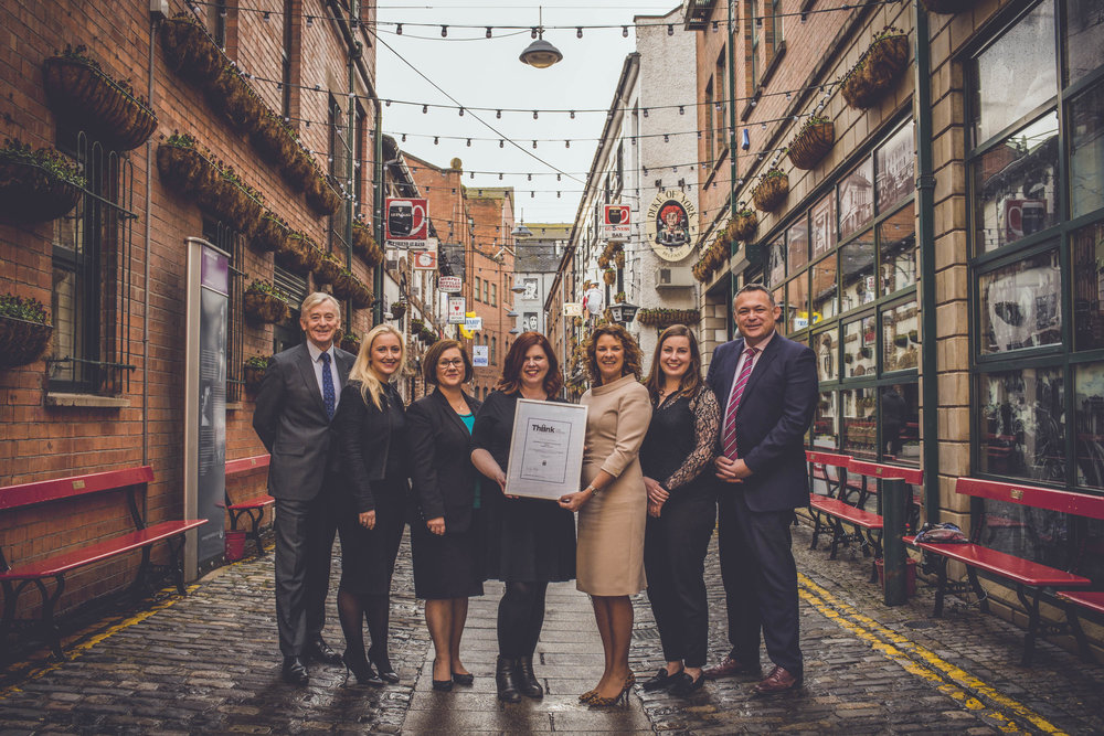 Solicitors and Staff from Edwards & Company pictured receiving their certificate of accreditation from Orlagh Kelly, CEO of BRIEFED.