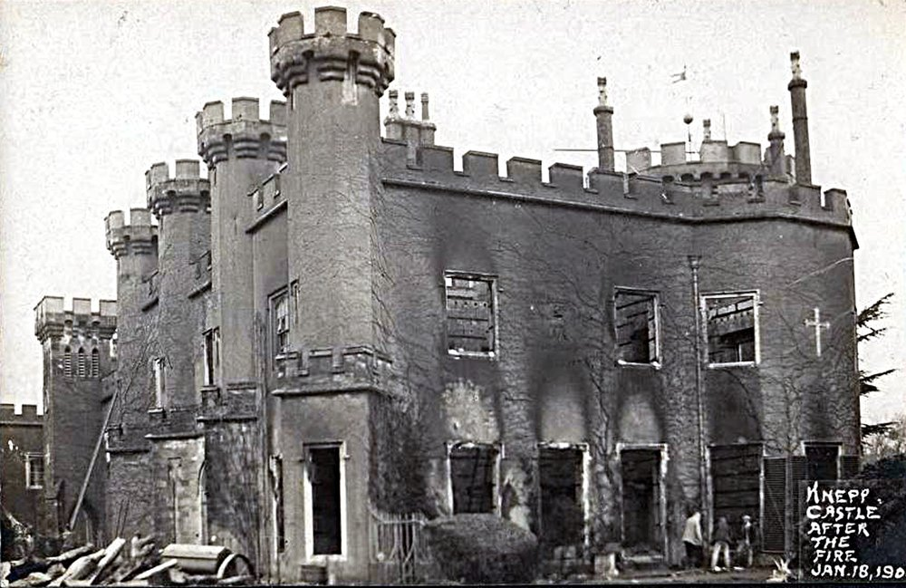 Knepp after being partially destroyed by fire in 1904