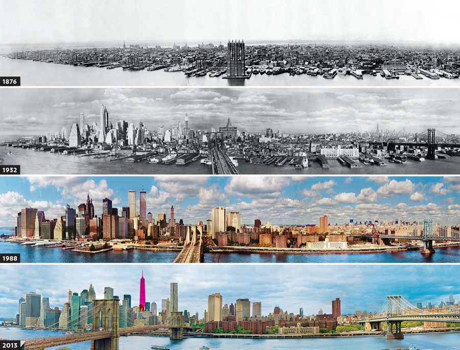 The Manhattan Skyline (1876 -  2013)