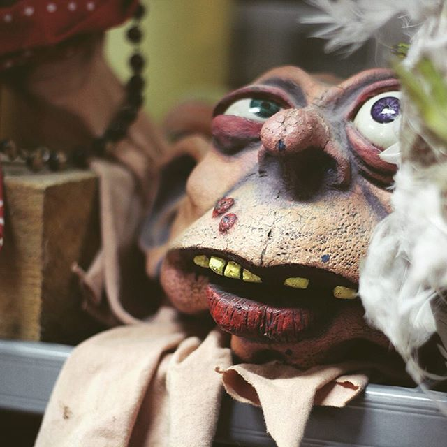 Wherever you look @puppetplace workshop you will see something interesting.  This fantastic character was spotted on one of the @greenginger shelves.  We have open doors today from 10 am till 4 pm.  Come and meet the puppets, robots and our artists, see some puppetry, play some games, and have a cuppa!  Puppet Place, Unit 18 Albion Dockside Estate, Hanover Place, Bristol, BS1 6UT  Don't forget to follow us @puppetplace  #BFP17 #puppetplace #ACEsupported #culturematters #NationalLottery #puppetry #animation #summerinbristol #culture #theatre #festival #greenginger #puppet #design #creativestudio #puppets #opendoors #bristolopendoors #workshop #tw  Photo © Marika Aakala, puppet by Green Ginger.