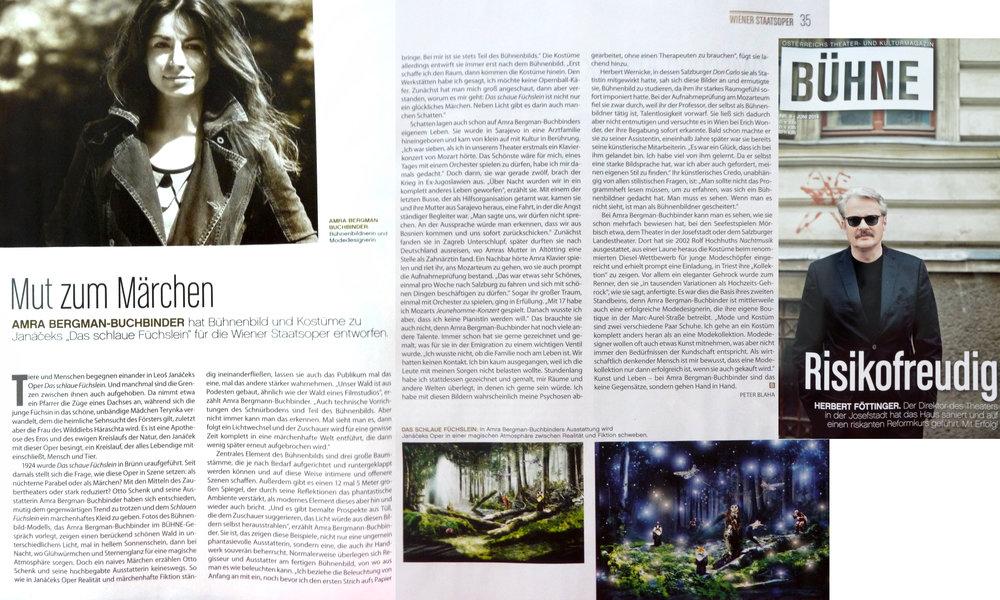 VIENNA STATEOPERA / STAGE- & COSTUMEDESIGN by AMRA BERGMAN / DIRECTOR: OTTO SCHENK / JANACEK / CUNNING LITTLE VIXEN