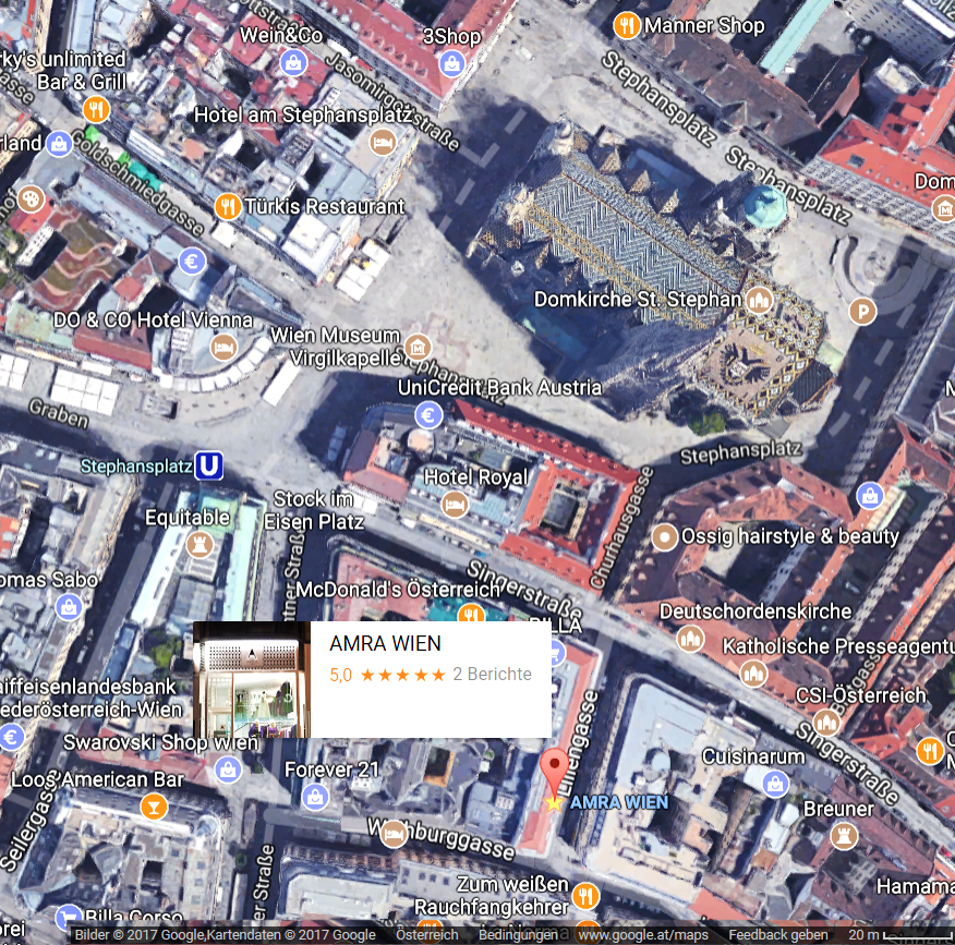https://www.google.at/maps/place/AMRA+WIEN/@48.2078523,16.3718082,277m/data=!3m1!1e3!4m5!3m4!1s0x476d07a22eb304f7:0x29a73ccdb063fe09!8m2!3d48.2071877!4d16.3727446?hl=de