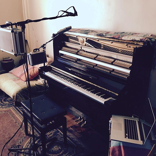 """Images from my recent remote recording session. Tracked four pieces for a new album tentatively titled """"Minutiae"""" – will share a sample track in the coming days. #ambientmusic #instrumentalmusic #kawai #pianomusic"""